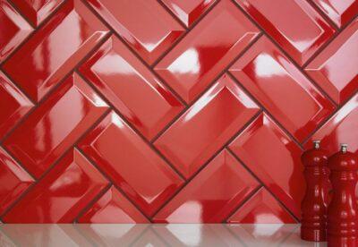 Красная плитка кабанчик с фаской
