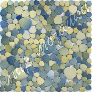 Сине-зеленная керамическая мозаика 1705