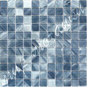 Темно синяя мозаика из стекла D6