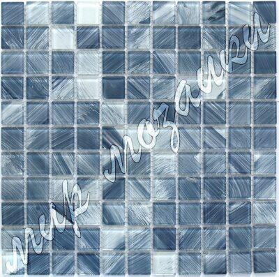 Холодно синяя мозаика из стекла D6