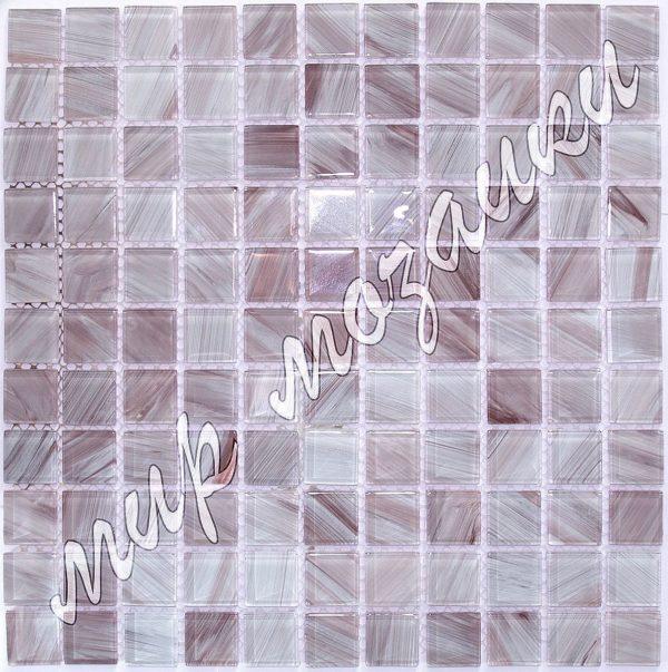 Сиреневая мозаика из стекла D4