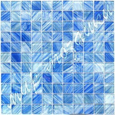 Синяя мозаика из стекла D3