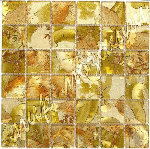 Мозаика из стекла принт из листов 7809