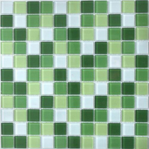 Мозаика из стекла в зеленых тонах CH4004