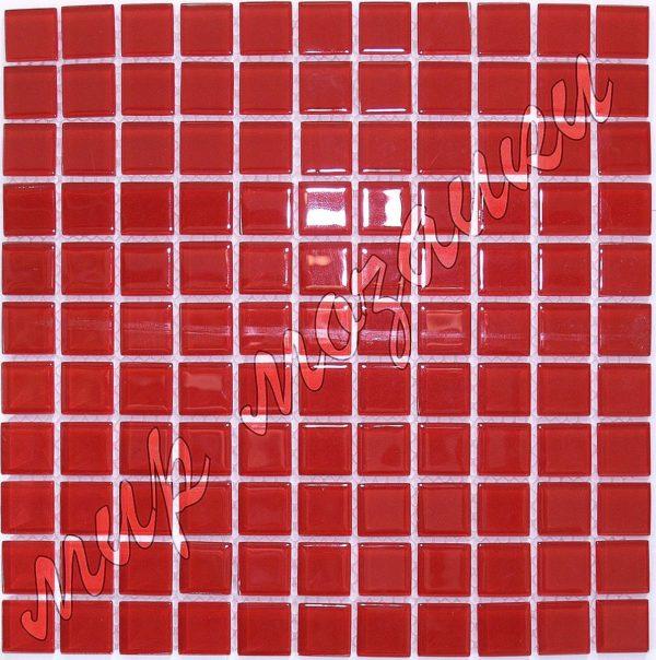 Красная мозаика из стекла A28