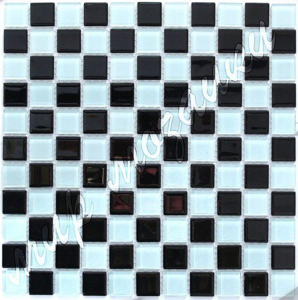 Шахматная мозаика из стекла A23