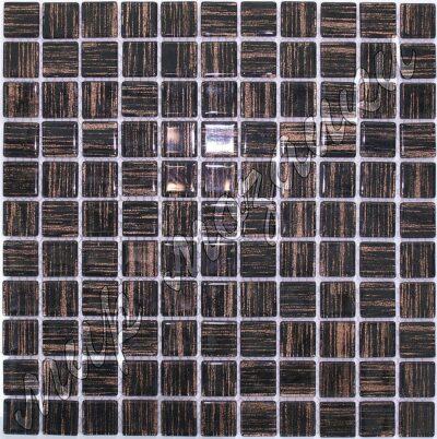 Коричневая мозаика из стекла с принтом DA19