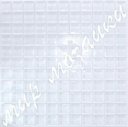 Белая мозаика из стекла A27