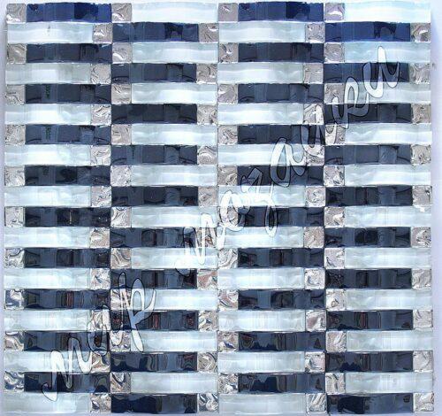 Волнистая мозаика из стекла JH016