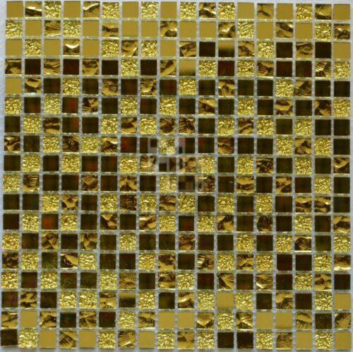 Золотая зеркальная мозаика LM002-15