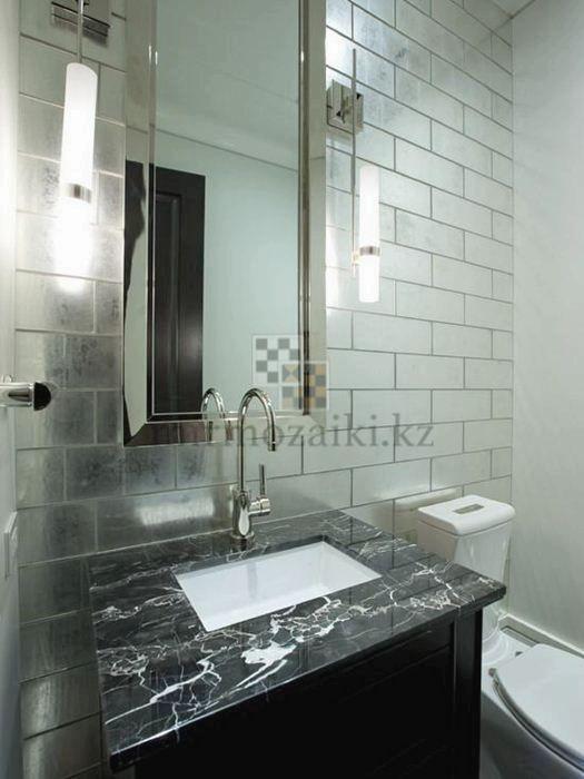 Зеркальное панно с фасетом на фартук в кухне 10*20