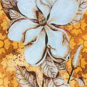 золорой цветок панно