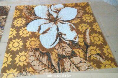Стеклянное панно золотой цветок