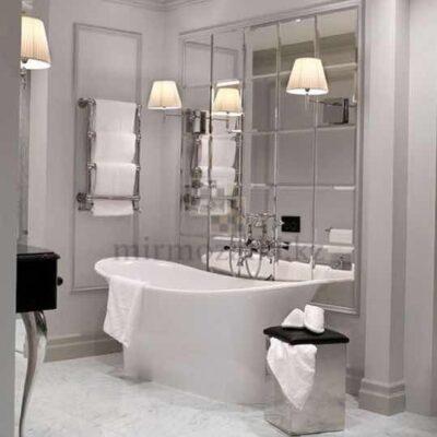 Зеркальное панно с фацетом в ванной 30x30