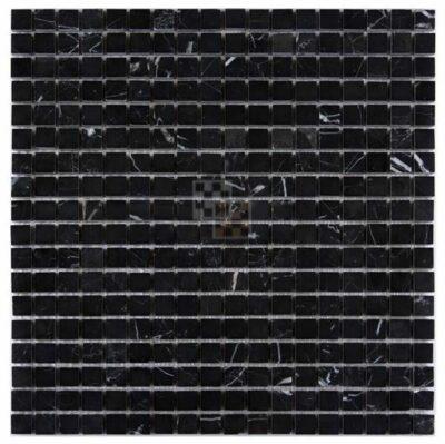 Черная мозаика из камня DD009 15