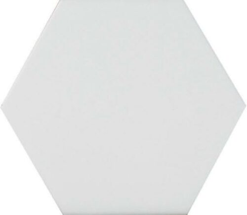 Белая шестигранная плитка соты