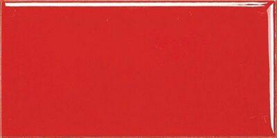 Красная плитка кабанчик с фаской - 100х200