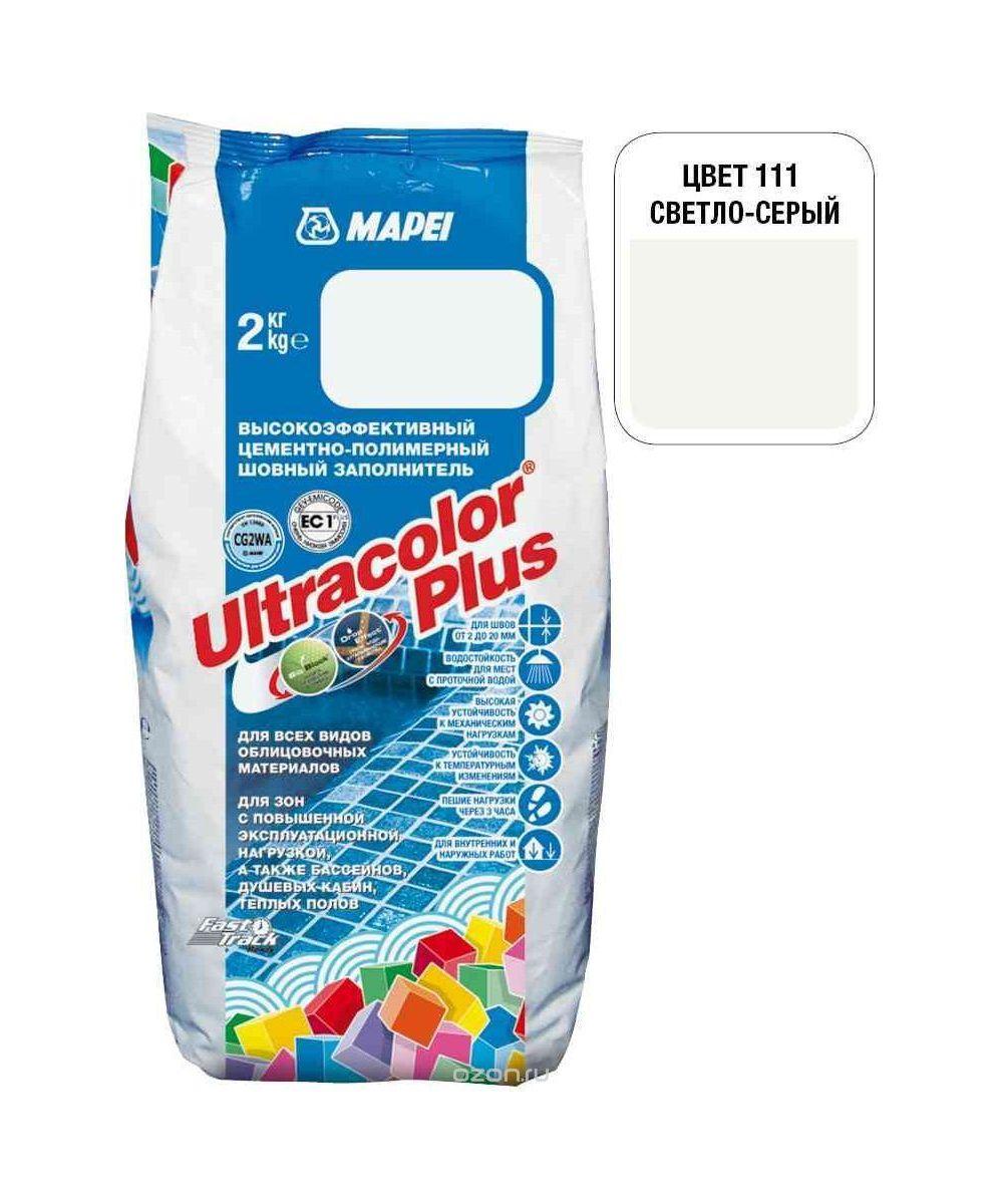 "Светло-серая затирка Mapei ""Ultracolor Plus"" (111)"