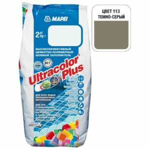 "Темно-серая затирка Mapei ""Ultracolor Plus"" (113)"