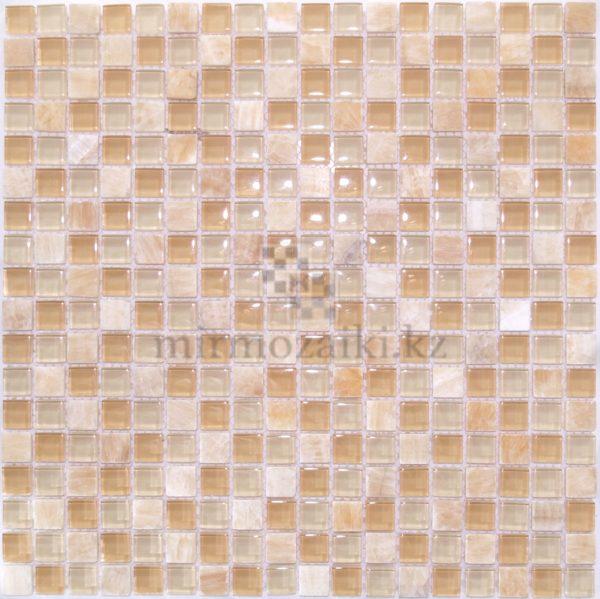 Бежевая мозаика из стекла и камня 05-15