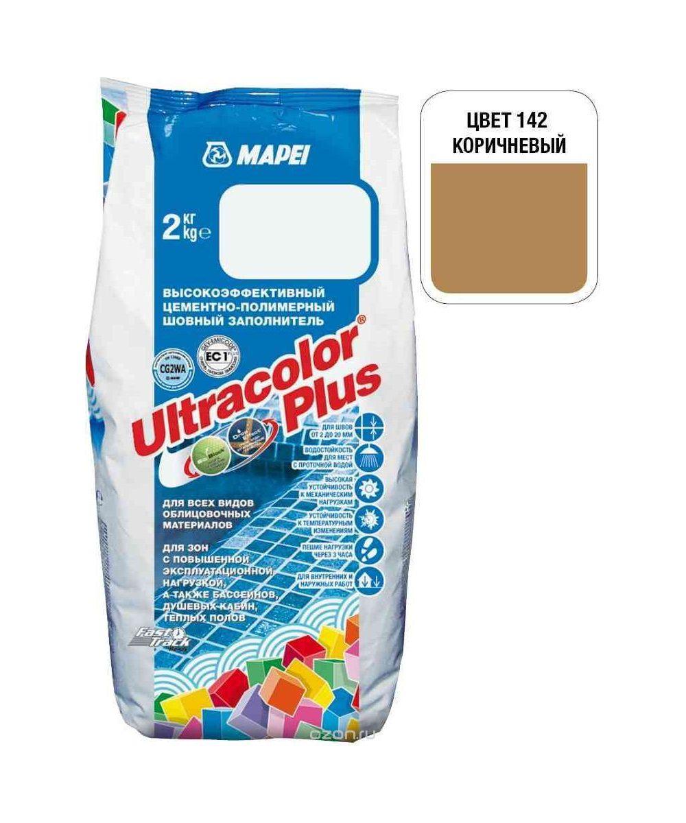 "Коричневая затирка Mapei ""Ultracolor Plus"" (142)"