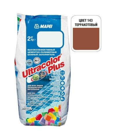 "Терракотовая затирка Mapei ""Ultracolor Plus"" (143)"