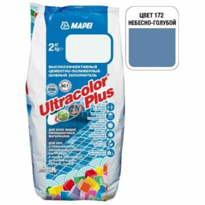 "Небесно-голубая затирка Mapei ""Ultracolor Plus"" (172)"