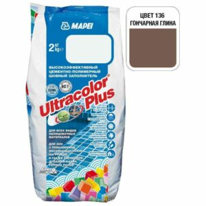 "Гончарная глина затирка Mapei ""Ultracolor Plus"" (136)"