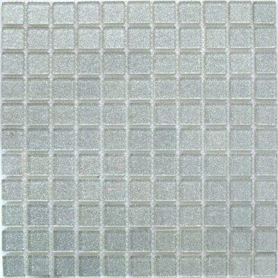 Мозаика из стекла Стеклянная мозаика с блестками V 002 серебро