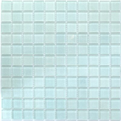 Стеклянная мозаика с блестками V 049 белая Мозаика из стекла