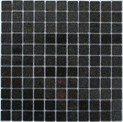 Черная стеклянная мозаика с блестками V 027