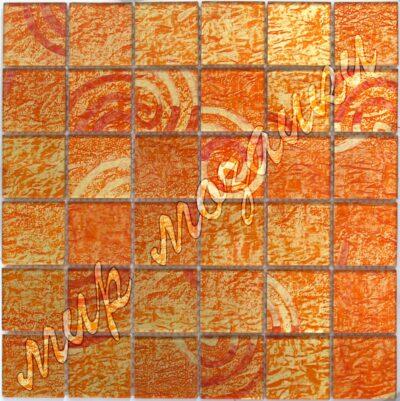 Оранжевая стеклянная мозаика E303