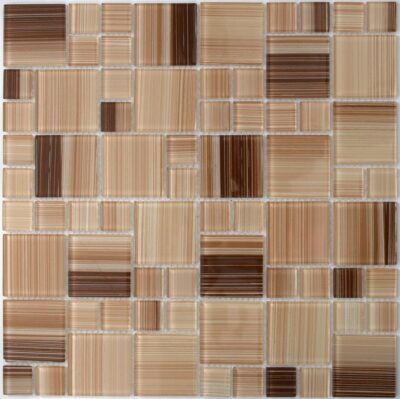 Стеклянная мозаика в бежевых тоннах D 8409