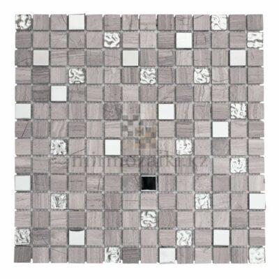 Серая мозаика из камня со вставками ST302 20