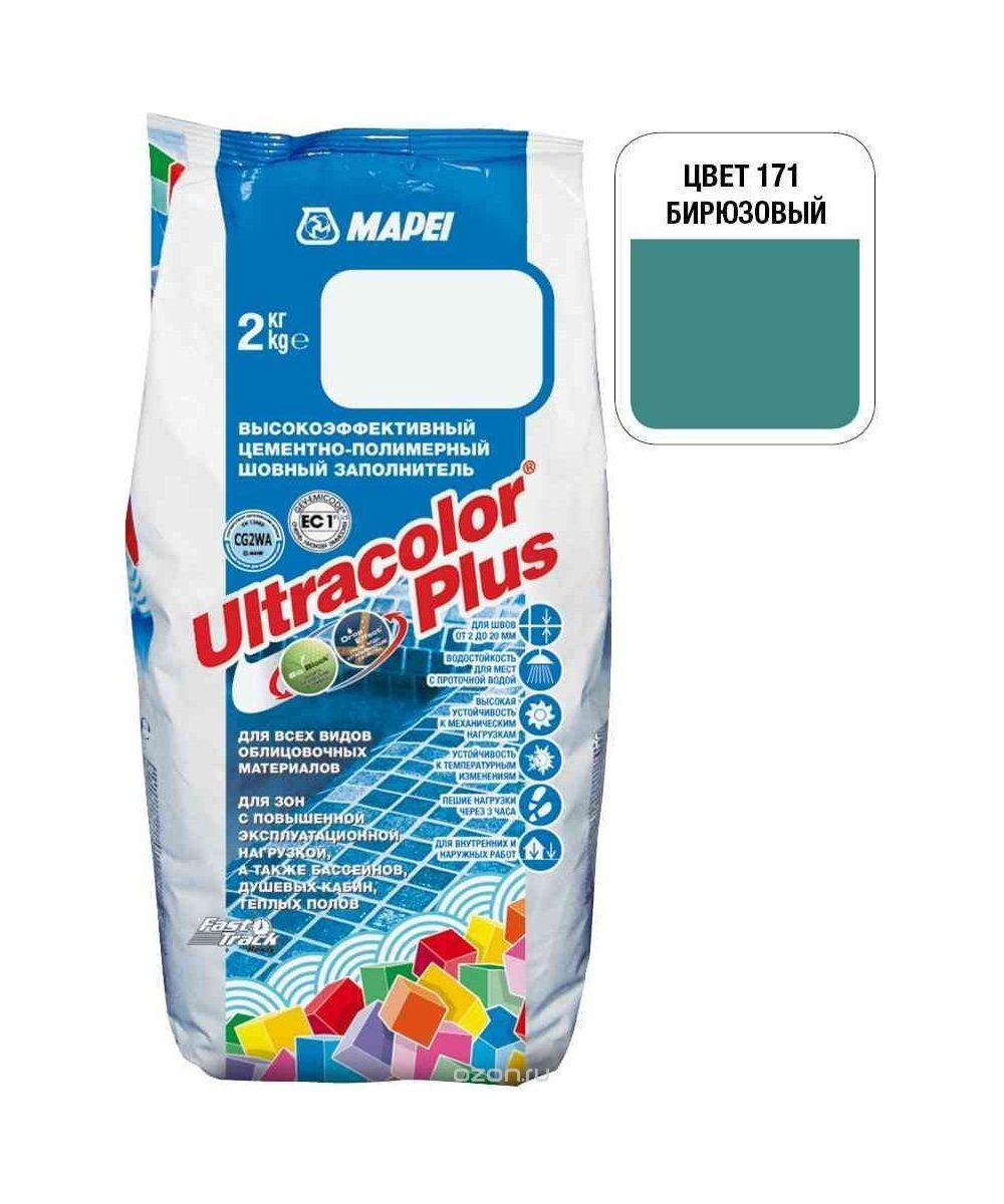"Бирюзовая затирка Mapei ""Ultracolor Plus"" (171)"