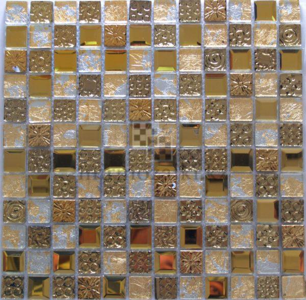 Золотая мозаика из стекла и металла JB 2305