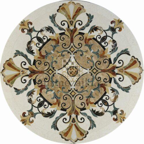 Круглое панно из мрамора/ керамогранита PK4