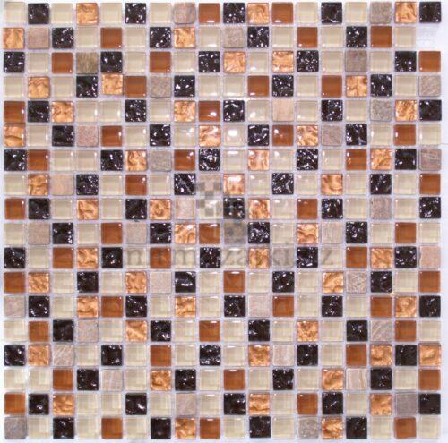Миксованная мозаика из стекла и камня 14-15 A