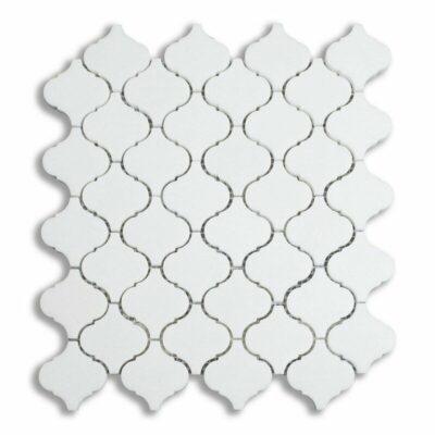 Белая однотонная мозаика из камня DRS010 Mirmozaiki.Kz 2