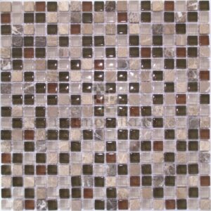 Мозаика имперадор лайт со стеклом цвета хаки 90-15