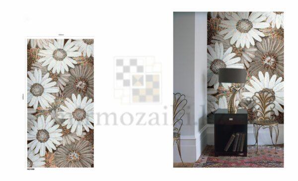 Художественное панно из мозаики Sicis b/w flowers
