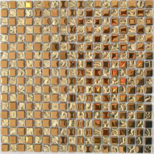Золотая стеклянная мозаика LJ 005