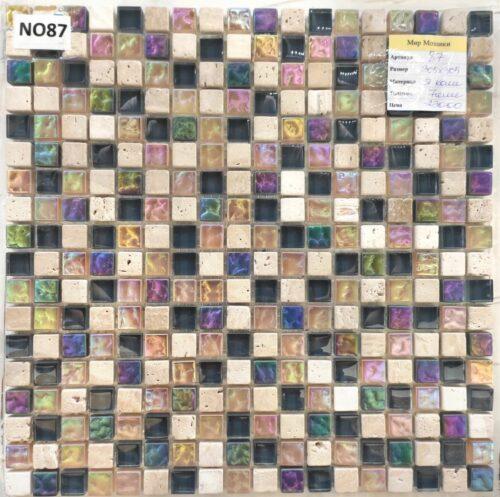 Мозаика хамелион из стекла и камня 87/15, mir mozaiki стекло камни алматы9