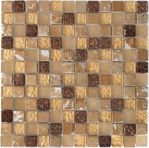 Мозаика в восточном стиле в золотом оттенке DSML02