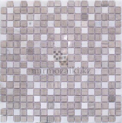 Серо белая мозаика из камня DD559