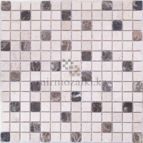 Бежевая мозаика с темным камнем DD555 20