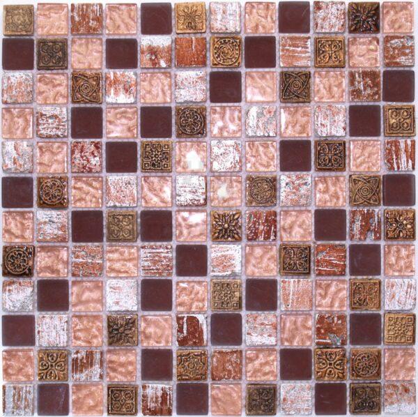 Мозаика в восточном стиле в фиолетовом оттенке DSML01