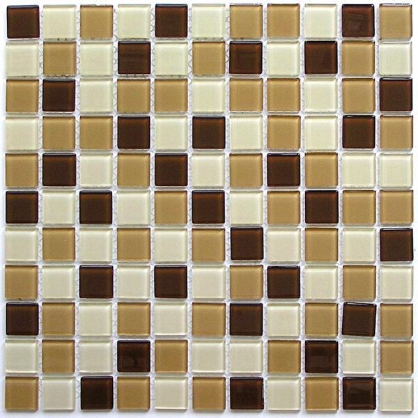 Бежевая мозайка с коричневыми вставками A10