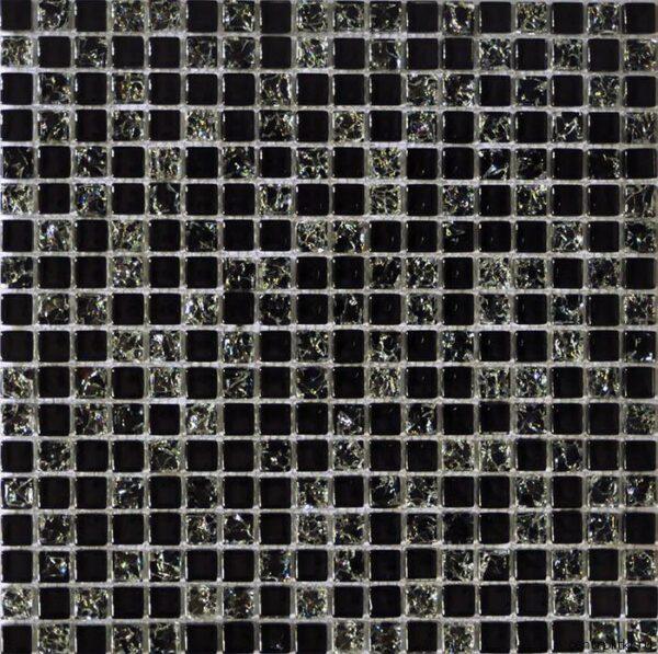черно серебряная мозайка A14
