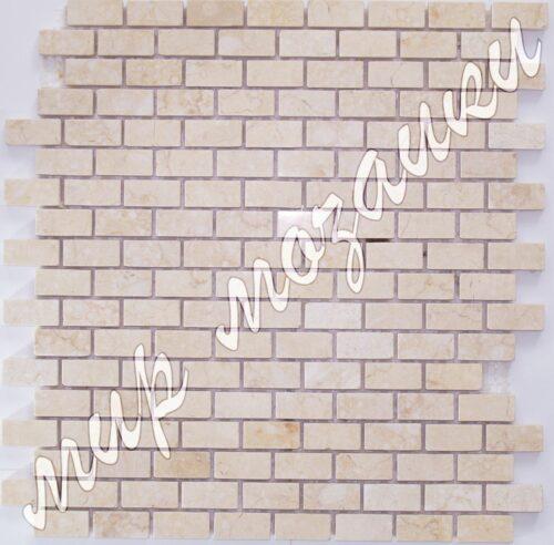Бежевая мозаика из камня DS001 кирпичик